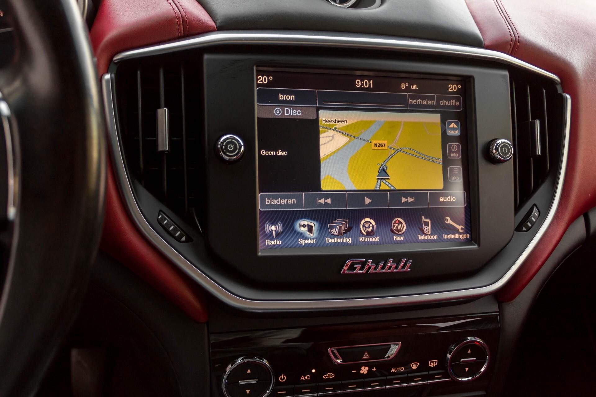 Maserati Ghibli 3.0d V6 20''/PremiumPack/Keyless/StoelV/Xenon/Navi Aut8 Foto 19