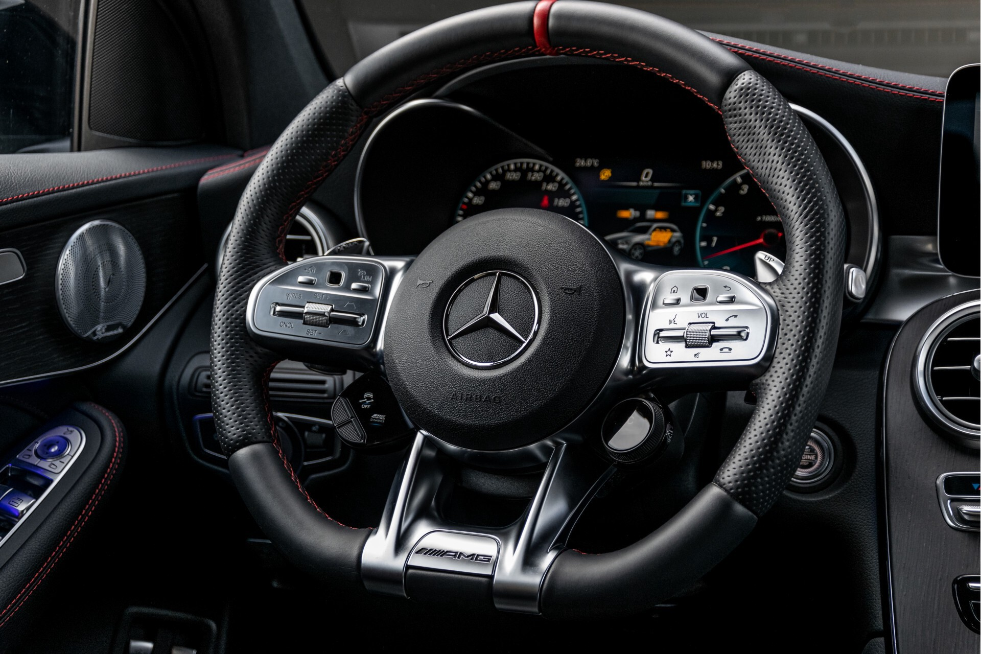 Mercedes-Benz GLC 43 AMG 4-M Night Pano/Sportuitlaat/Keyless/Distronic/Widescreen/MBUX/Trekhaak Aut9 Foto 8