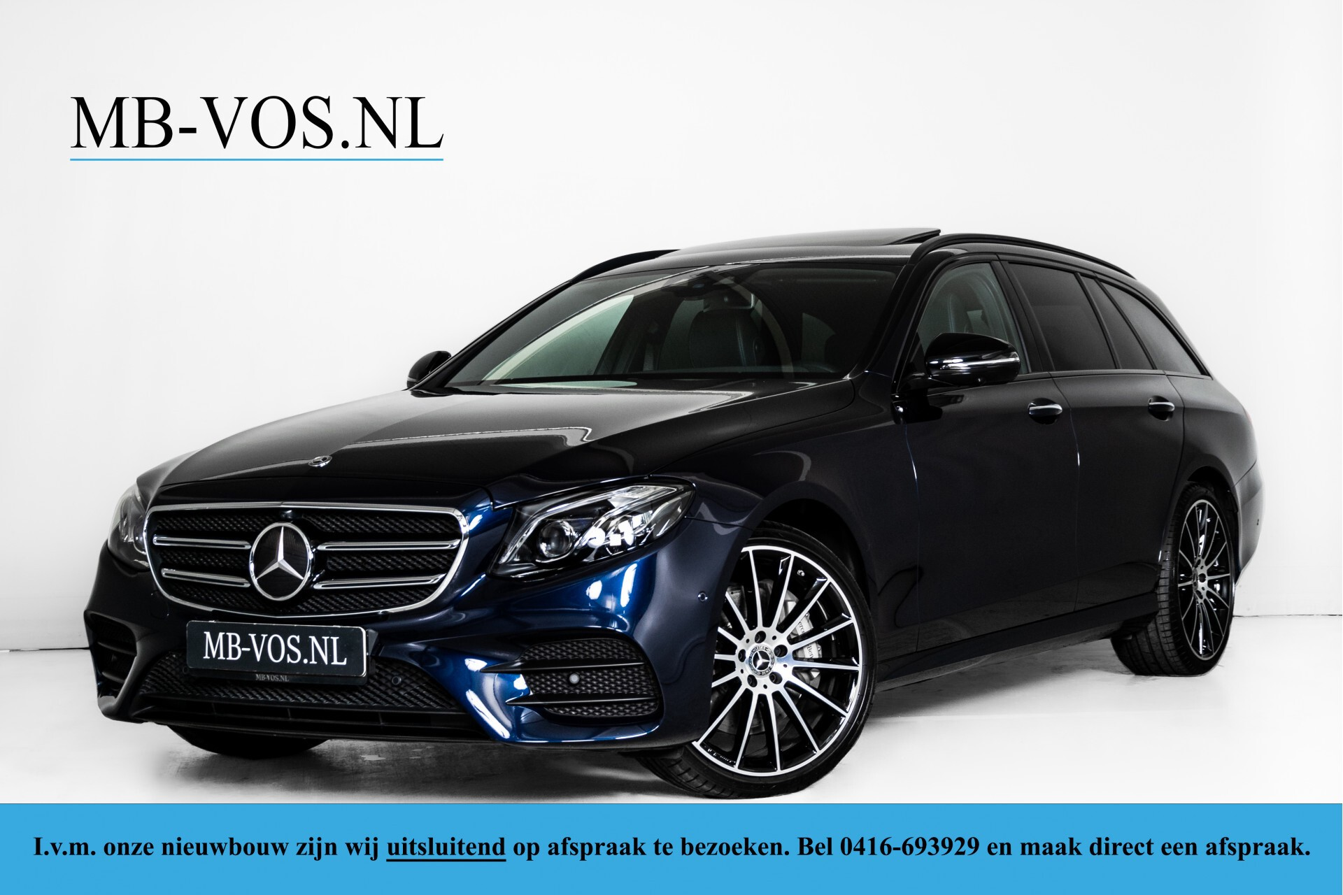 Mercedes-Benz E-Klasse Estate 450 4-M AMG Night Standkachel/Rij-assist/Keyless/Trhk/Burmester/Mem/360/Widescreen Aut9 Foto 1