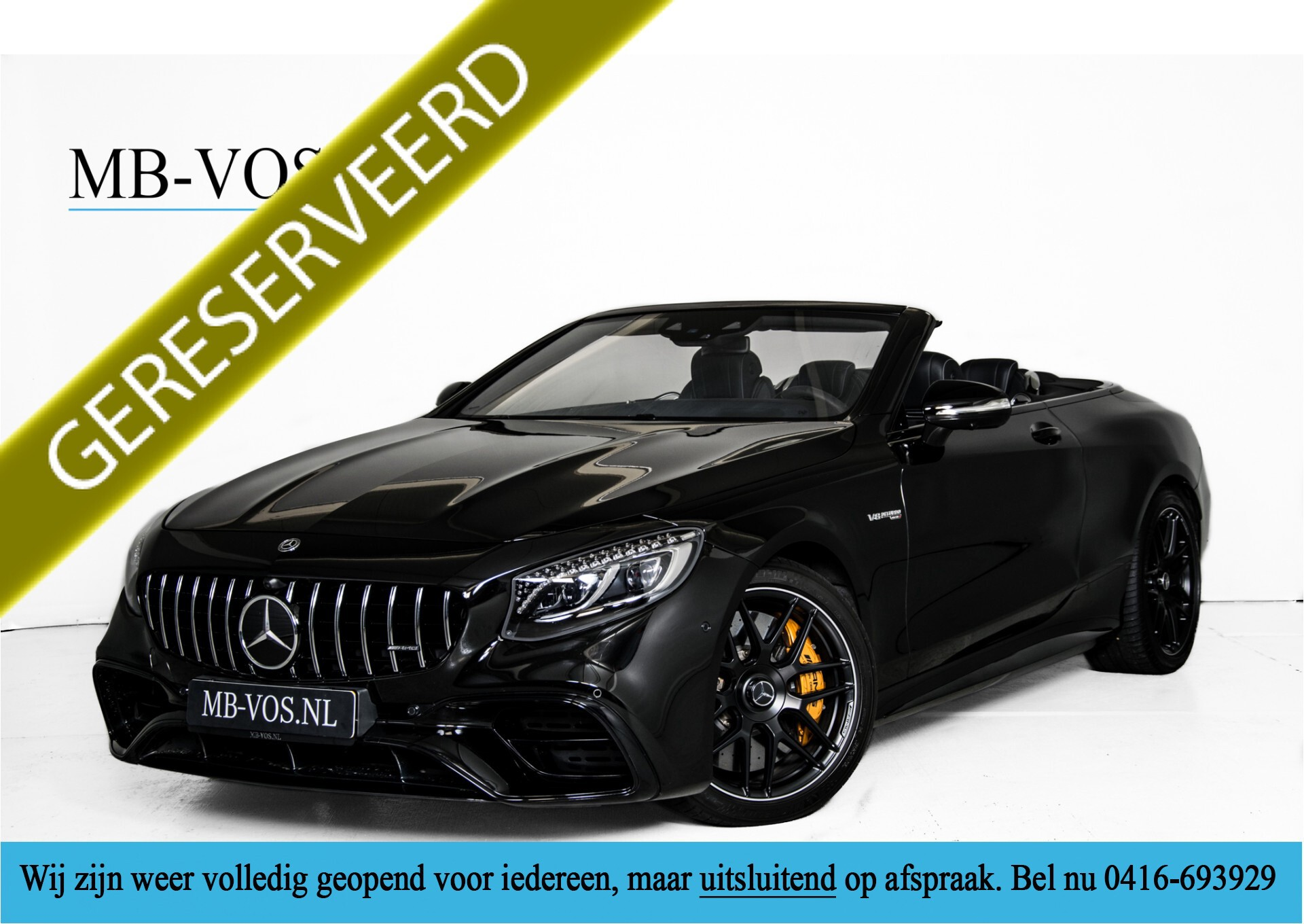 Mercedes-Benz S-Klasse Cabrio 63 AMG 4M+ Keramisch/Burmester High End 3D/Carbon/Driverspack/Blackpack Aut9 Foto 1