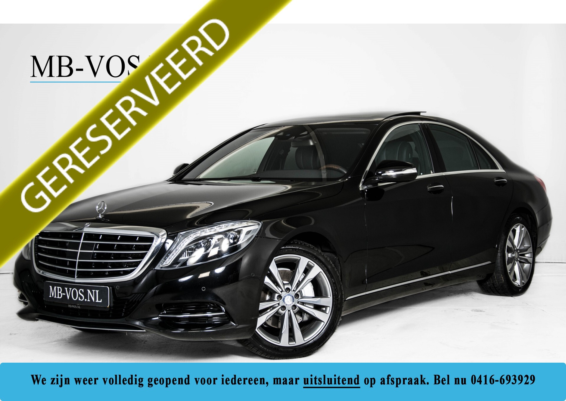"Mercedes-Benz S-Klasse 350 Bluetec Massage/Keyless/Rij-assistentie/Panorama/Nightvision/19"" Aut7 Foto 1"