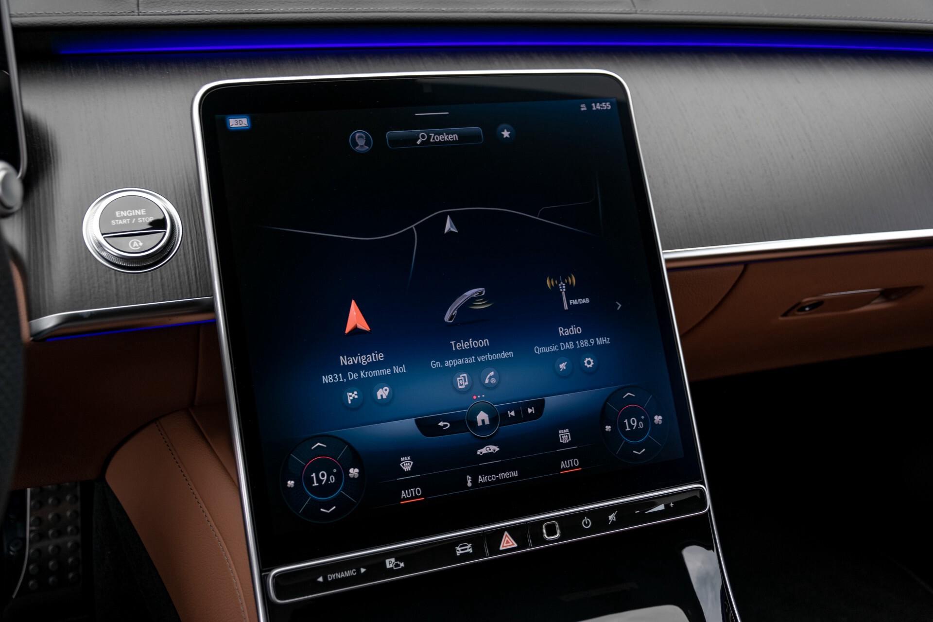 Mercedes-Benz S-Klasse 500 4-M AMG Siennabruin ruitleder/Rij-assistentiepakket/Keyless/Burmester Aut9 Foto 10