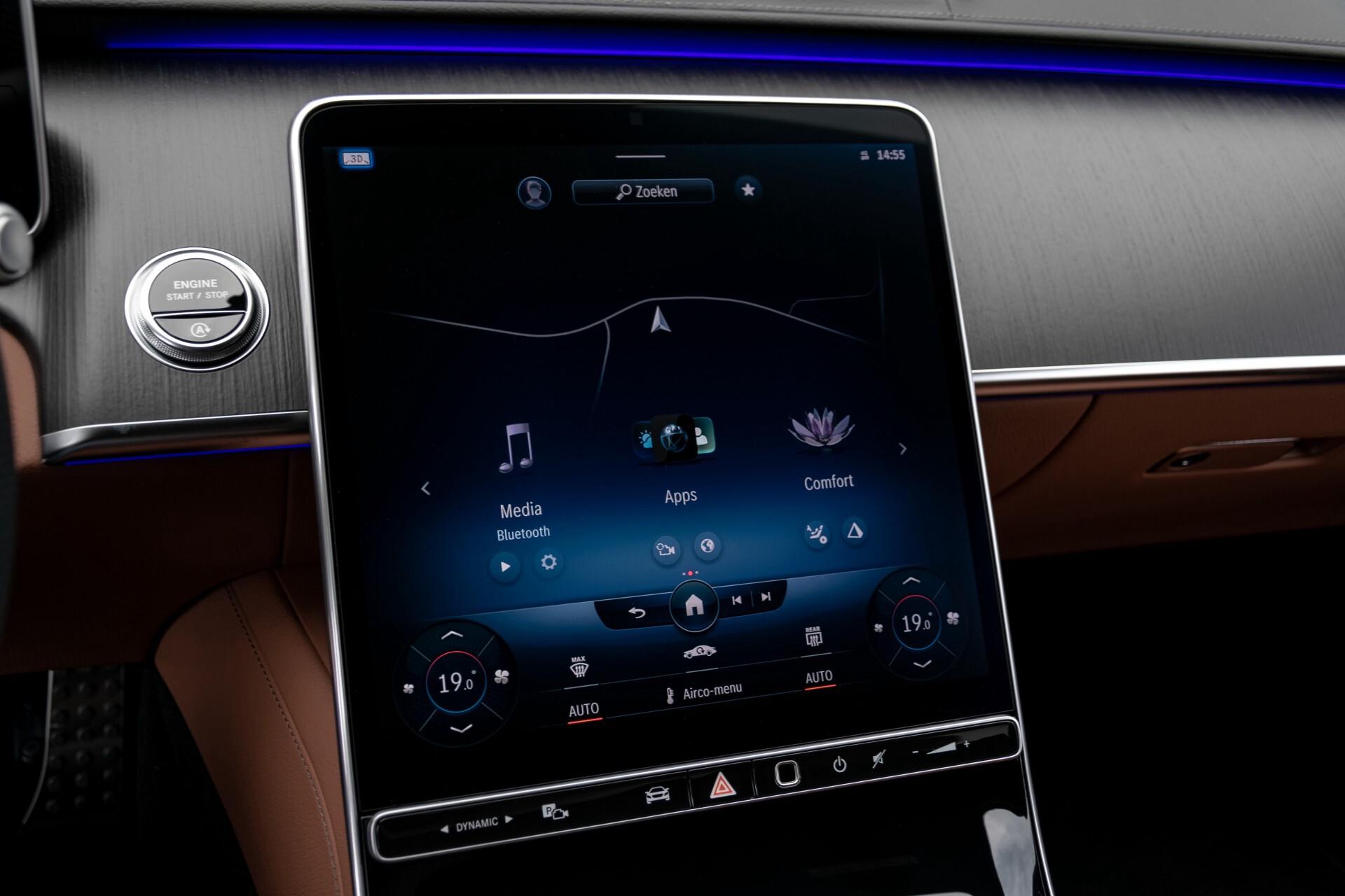 Mercedes-Benz S-Klasse 500 4-M AMG Siennabruin ruitleder/Rij-assistentiepakket/Keyless/Burmester Aut9 Foto 12