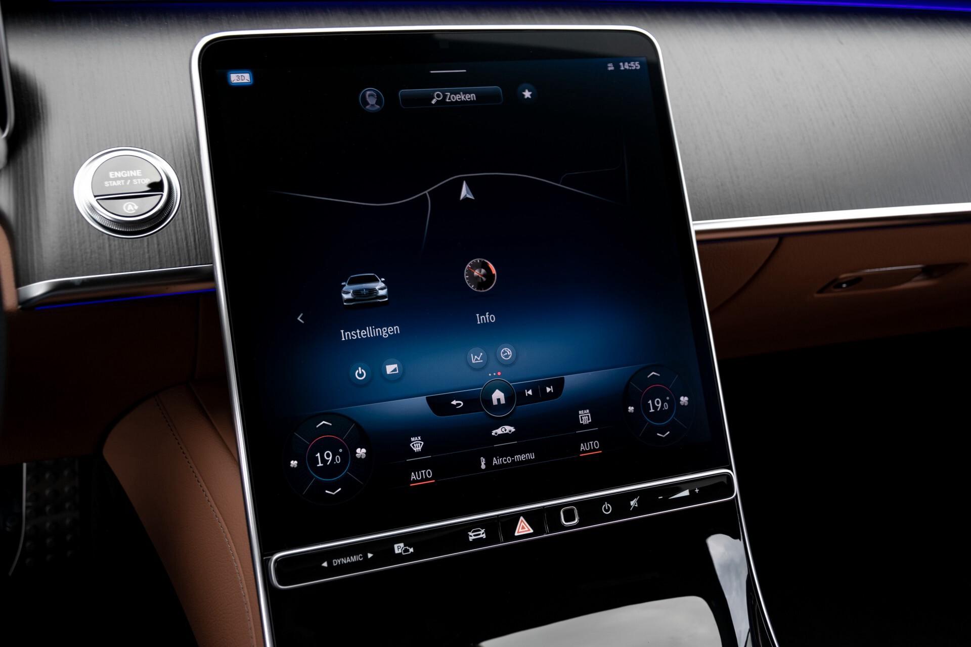 Mercedes-Benz S-Klasse 500 4-M AMG Siennabruin ruitleder/Rij-assistentiepakket/Keyless/Burmester Aut9 Foto 14