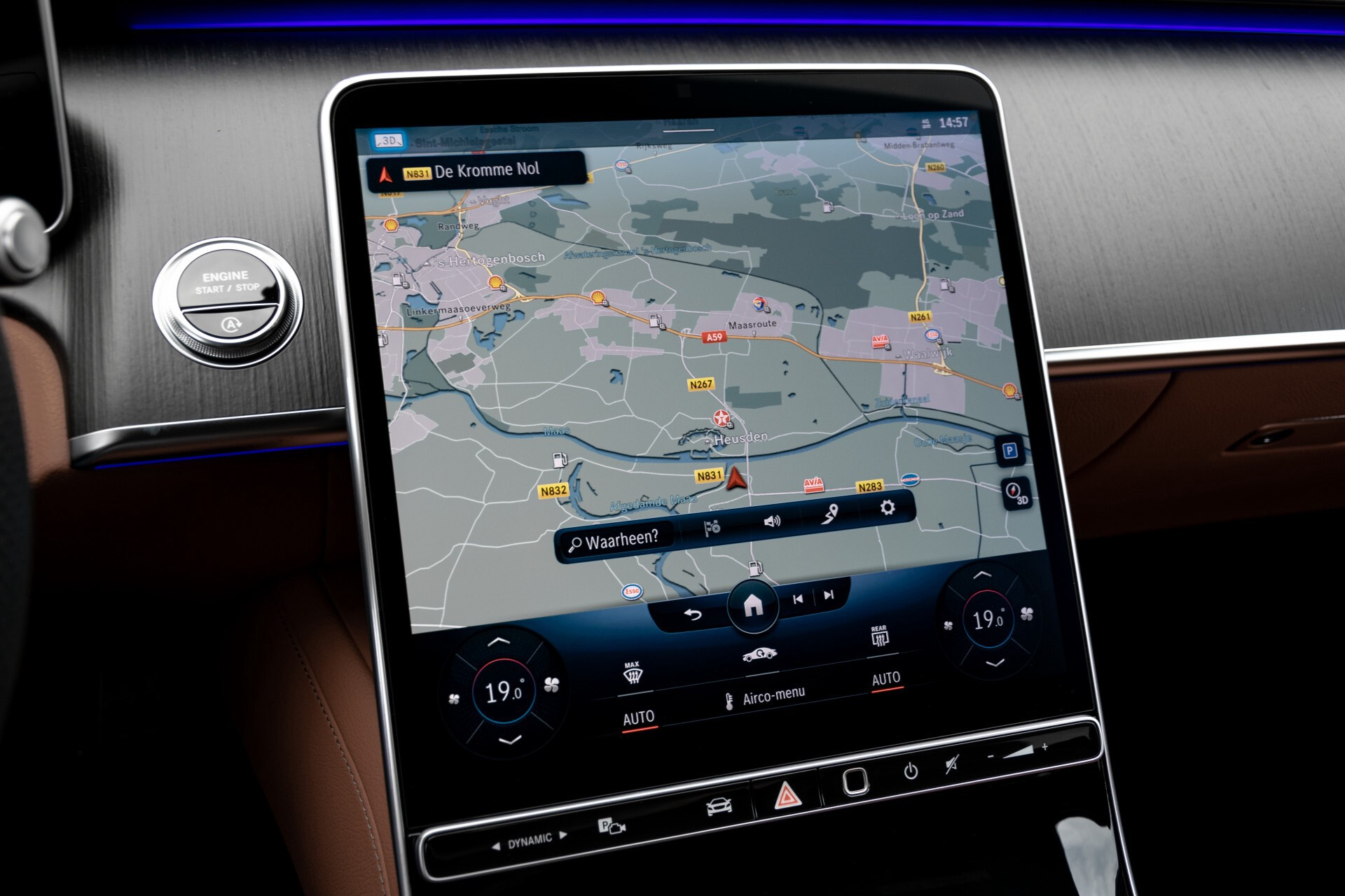Mercedes-Benz S-Klasse 500 4-M AMG Siennabruin ruitleder/Rij-assistentiepakket/Keyless/Burmester Aut9 Foto 16
