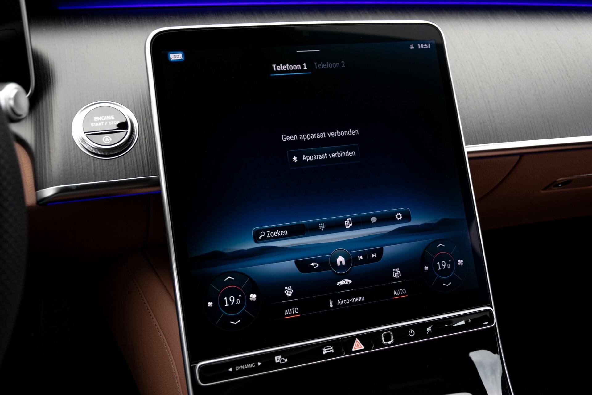 Mercedes-Benz S-Klasse 500 4-M AMG Siennabruin ruitleder/Rij-assistentiepakket/Keyless/Burmester Aut9 Foto 18