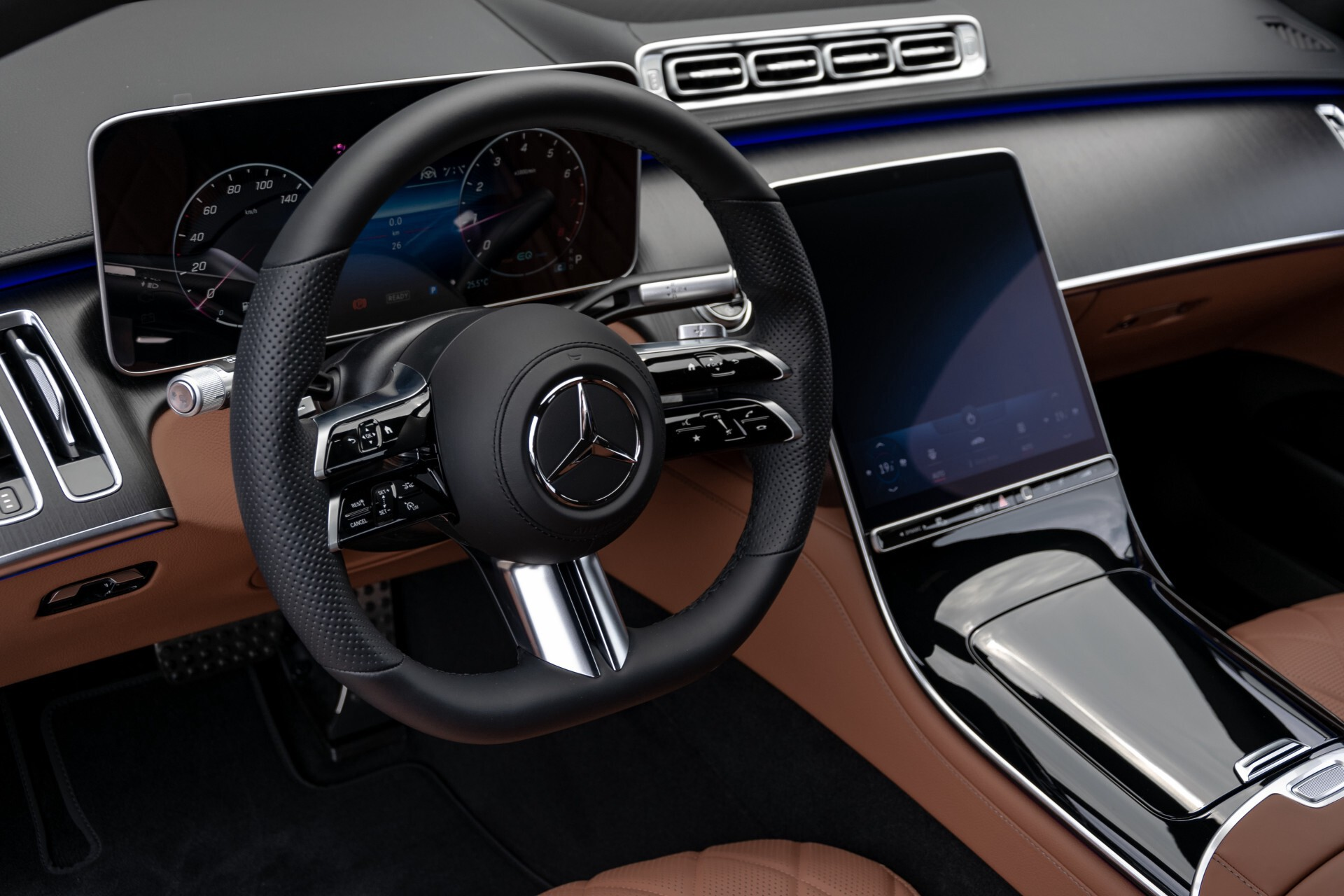 Mercedes-Benz S-Klasse 500 4-M AMG Siennabruin ruitleder/Rij-assistentiepakket/Keyless/Burmester Aut9 Foto 25