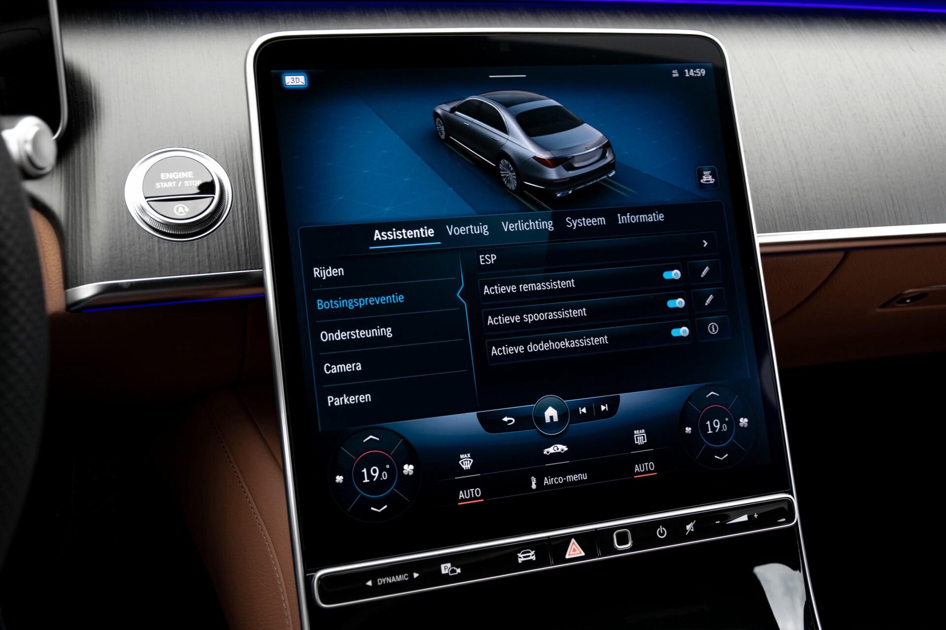 Mercedes-Benz S-Klasse 500 4-M AMG Siennabruin ruitleder/Rij-assistentiepakket/Keyless/Burmester Aut9 Foto 30