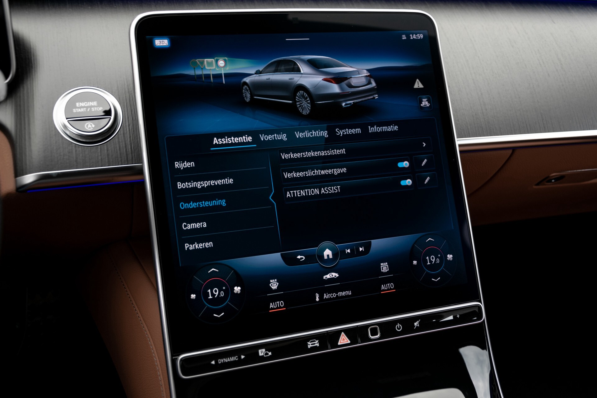 Mercedes-Benz S-Klasse 500 4-M AMG Siennabruin ruitleder/Rij-assistentiepakket/Keyless/Burmester Aut9 Foto 32