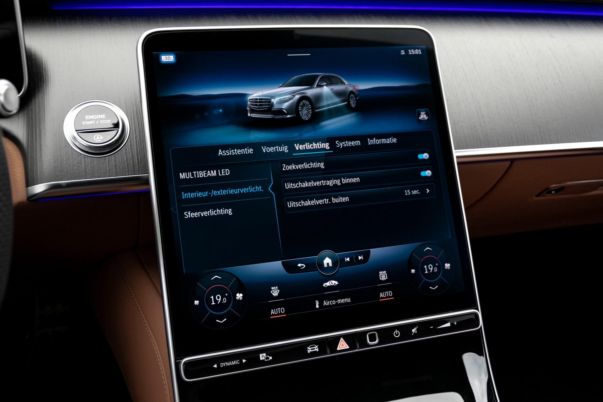 Mercedes-Benz S-Klasse 500 4-M AMG Siennabruin ruitleder/Rij-assistentiepakket/Keyless/Burmester Aut9 Foto 42