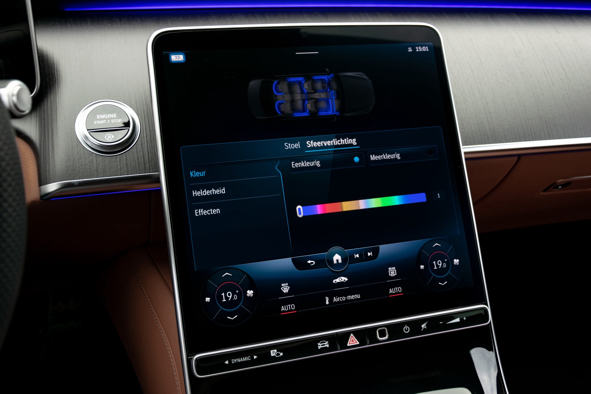 Mercedes-Benz S-Klasse 500 4-M AMG Siennabruin ruitleder/Rij-assistentiepakket/Keyless/Burmester Aut9 Foto 44