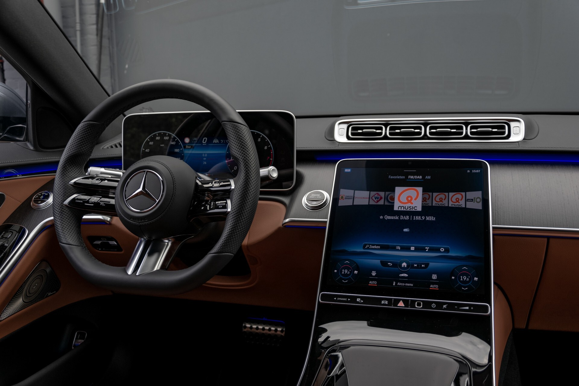 Mercedes-Benz S-Klasse 500 4-M AMG Siennabruin ruitleder/Rij-assistentiepakket/Keyless/Burmester Aut9 Foto 5