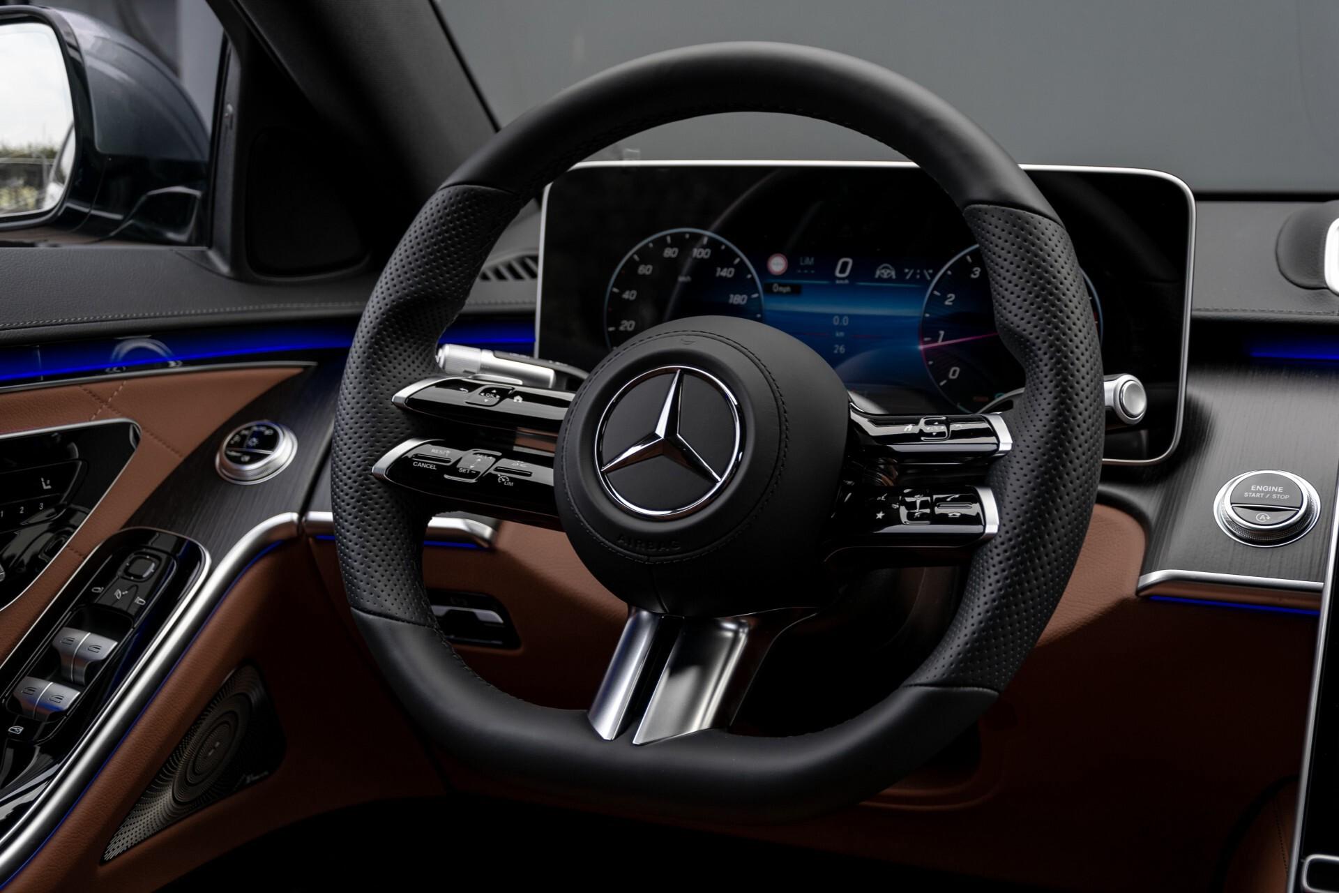 Mercedes-Benz S-Klasse 500 4-M AMG Siennabruin ruitleder/Rij-assistentiepakket/Keyless/Burmester Aut9 Foto 7