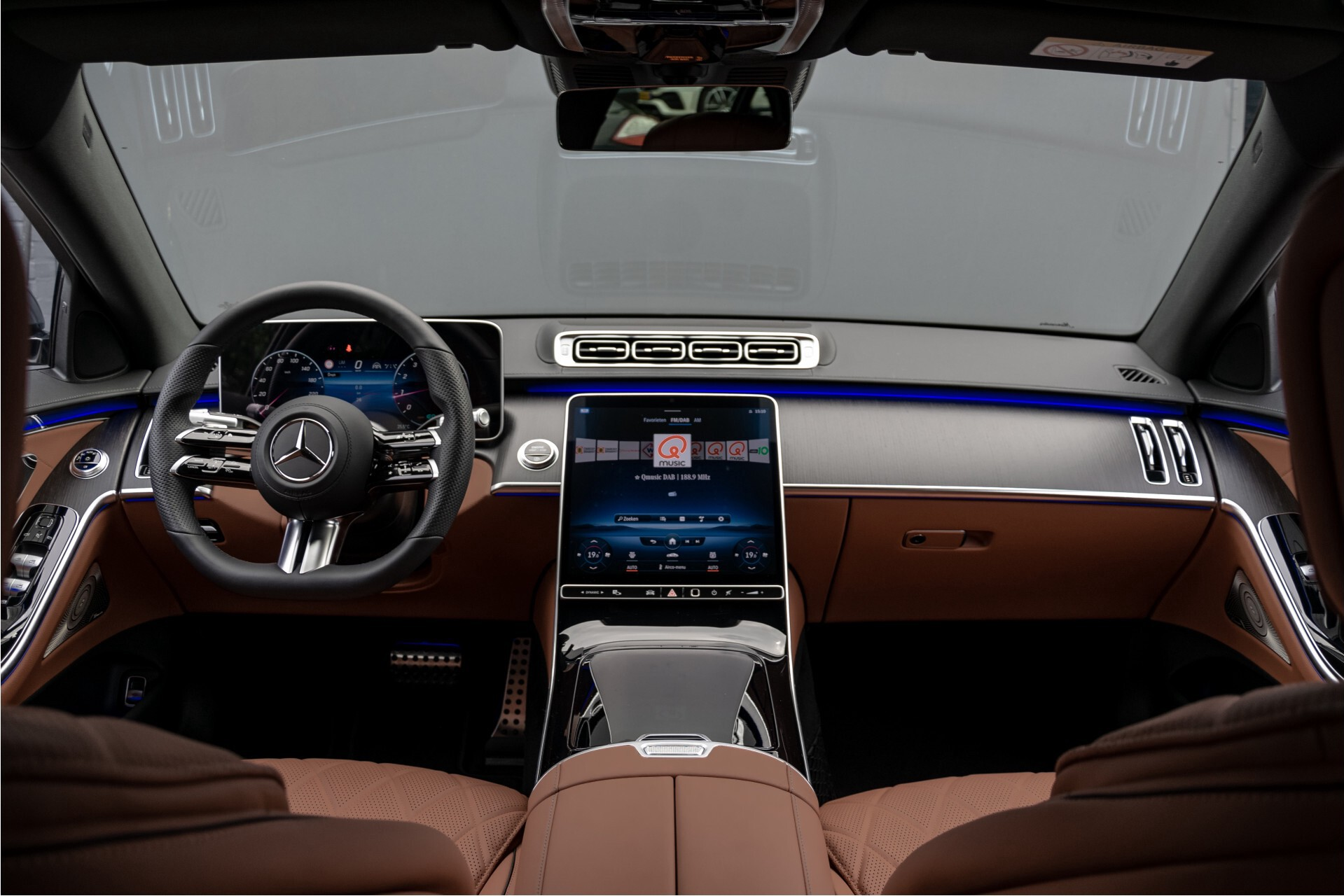 Mercedes-Benz S-Klasse 500 4-M AMG Siennabruin ruitleder/Rij-assistentiepakket/Keyless/Burmester Aut9 Foto 8