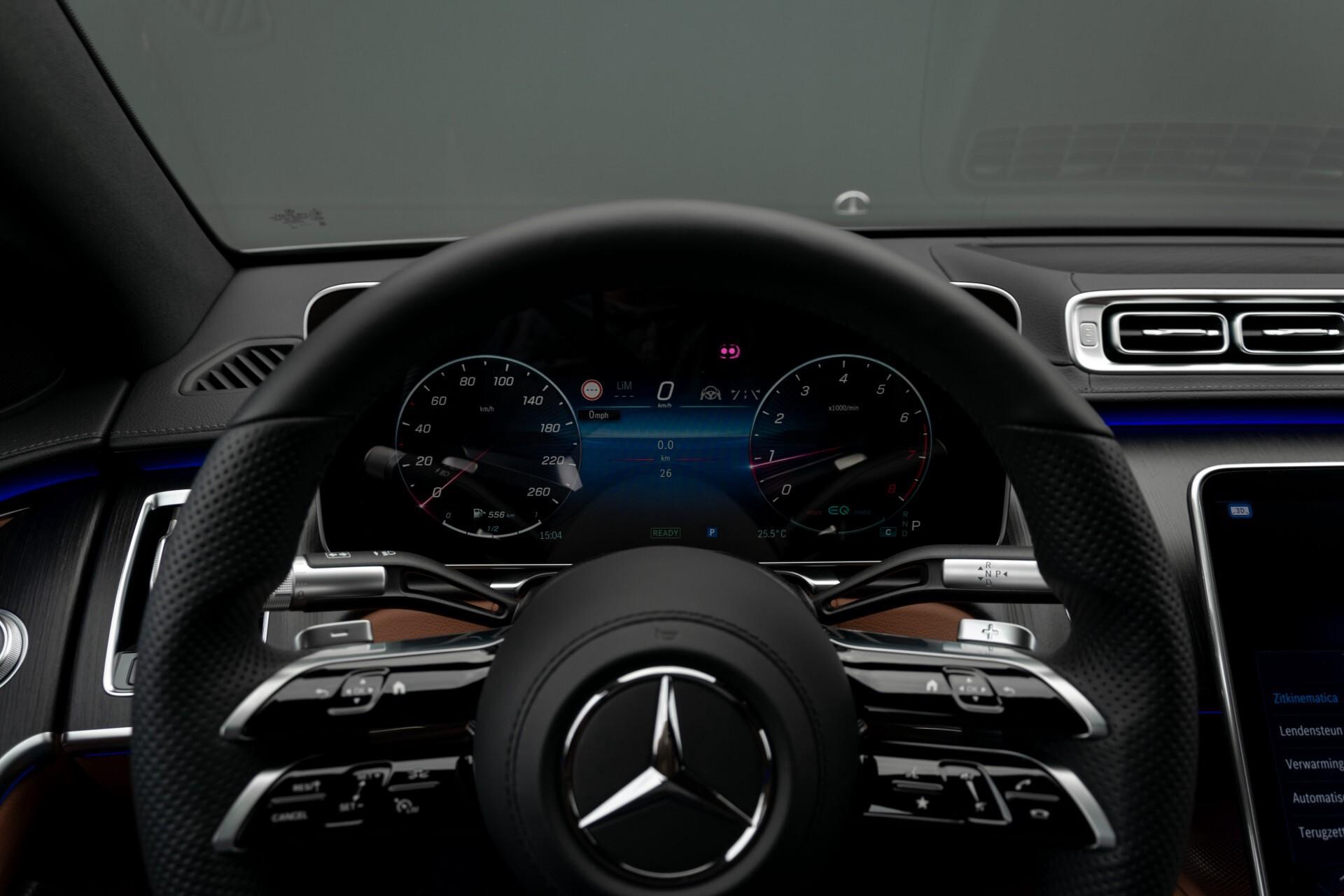 Mercedes-Benz S-Klasse 500 4-M AMG Siennabruin ruitleder/Rij-assistentiepakket/Keyless/Burmester Aut9 Foto 9