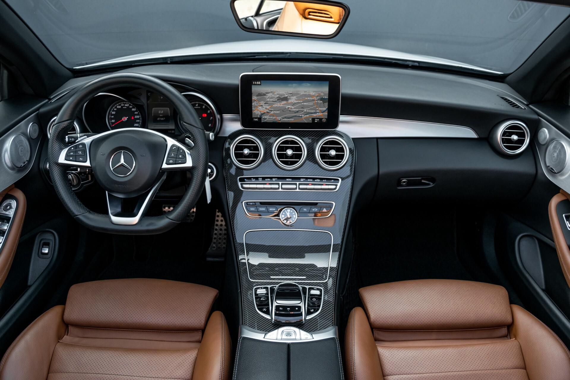 Mercedes-Benz C-Klasse 300 Cabriolet AMG Carbon/Airscarf/Aircap/Comand/Zadelbruin leder/Burmester Aut9 Foto 10